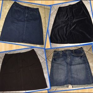 Lot/Bundle size 6 Skirts